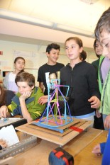 """""""Science students shake testing structures in Middle School Dec 3, 2014."""""""