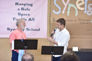 Russ Messing Celebration one three founders at Synergy School. October 22, 2017